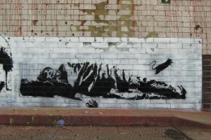 "Blek le Rat ""Sleeping Man"""